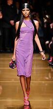 VERSACE H&M HM PURPLE BOTTONI ORO CROCHET LACE DRESS US 4 / UK 8 / EUR 34 BNWT