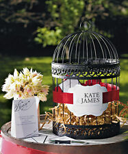 Classic Round PERSONALIZED Birdcage Wishing Well Wedding Card Holder