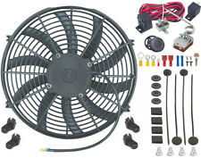 """14"""" INCH ELECTRIC RADIATOR ENGINE FAN ADJUSTABLE FIN PROBE THERMOSTAT SWITCH KIT"""