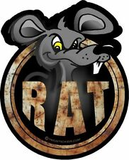 "ProSticker 708 (One) 4"" Phantom Series Rat Rod ""Rat"" Decal Sticker"