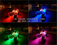 18 Color Changing Led RZR S 1000 ATV UTV Quad 4Wheeler 6pc Led Neon Glow Kit