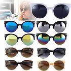Unisex Fashion Oversized Vintage Retro Cats Eye Sunglasses Black Round Designer