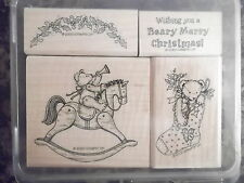 "RAR "" Beary Merry Christmas "" Stampin up - Schaukelpferd Weihnachten Teddy"