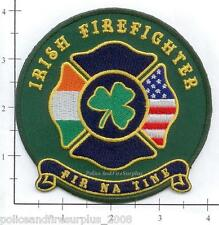 Irish Emerald Society Firefighters Fire Dept Patch - Fir Na Tine