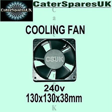square fan cooling panel motor 130 x 130 x 38 universal 240v cater spares parts