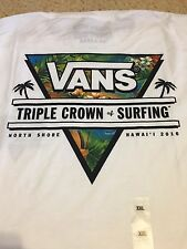 NWT-VANS TRIPLE CROWN OF SURFING-NORTH SHORE HAWAII 2016 SURF CONTEST 2XL WHT T-
