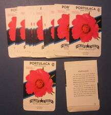 Wholesale Lot of 25 Old Vintage 1950's PORTULACA  Moss Rose Flower SEED PACKETS