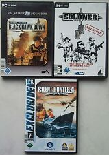 Söldner Secret Wars + Delta Force BLACK HAWK DOWN + SILENT HUNTER 4  Sammlung PC