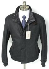 2-in-1 BRIONI Reversible Wool & Cashmere Quilted Zip Coat Jacket 56 2XL XL NWT