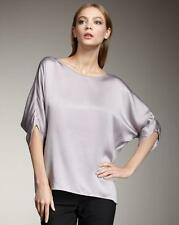 Vince NWT Silk Satin Envelope Sleeve Tee Blouse Tunic Icing Lavender S/Small