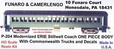 Funaro F&C 204 P-204 ERIE STILLWELL Passenger COACH  W/ Commonwealth TRUCKS 1-PC