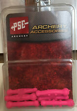 NEW PSE ARCHERY PINK COLORED STRING SILENCER CHUBS FOR PSE BOW