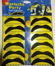 MOUSTACHES X 12 MEXICAN BANDIT COLLECTION MUSTACHE MUSTASH MOUSTASH TASHES