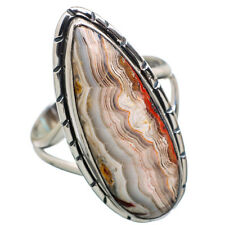 Crazy Lace Agate 925 Sterling Silver Ring Size 9 Ana Co Jewelry R814311F