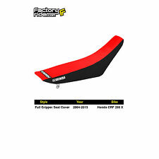 2004-2016 HONDA CRF 250X Black/Red FULL GRIPPER SEAT COVER by Enjoy MFG