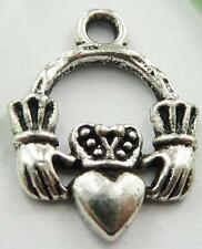 free shipping 300pcs tibet silver hand heart charms 18x13mm