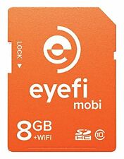 EyeFi mobi­-8­­ Mobi 8GB SDHC Class 10 Wireless Wi-Fi SD Memory Card w/Case✔NEW✔