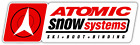 "Atomic Snow Systems Ski Snowboard Car Bumper Window Sticker Decal 8""X2"""