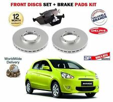 FOR MITSUBISHI MIRAGE 1.0 1.2 MIVEC 2012--  FRONT BRAKE DISCS SET + DISC PAD KIT