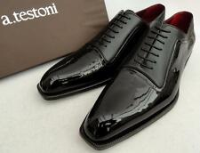 a.testoni Black Leather Shoes DERBY UK10 EU44 US11
