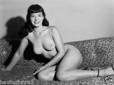 Bettie Page Nude Pose on Couch 5 x 7  Photograph