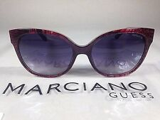 $160 New Authentic Guess By Marciano Cat Eye Sunglasses Red Snake Purple Fade