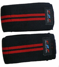 Knee Wraps Support Bandages Without Velcro for WEIGHT LIFTING , Bodybuilding F2F
