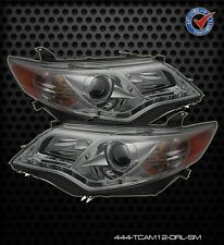 Projector Head Lights Lamps Toyota Camry 2012-2013 DRL LED - Smoke