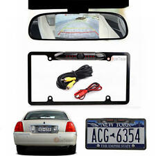 "4.3"" LCD Mirror Monitor W/ US License Plate Frame Night Vision Car Backup Camera"