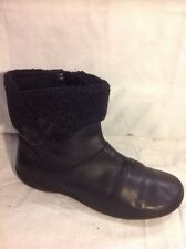 K By Clarks Black Ankle Leather Boots Size 5.5E