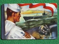 World War Two EBCO Electric Boat Co Submarine Vintage 1943 Swap Card Mint Unused
