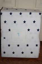 NWT Pottery Barn Kids Star flannel queen sheet set navy