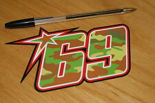 Nicky Hayden Camo 2013 Race Number (Med)