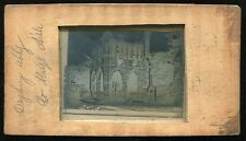 VINTAGE 1800's GLASS SLIDE IN WOOD FRAME - DRYBURGH ABBEY ST, MARY'S AISLE