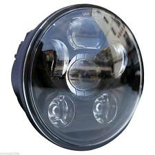 Black 5.75 5 3/4 Motorcycle Projector LED Light Bulb Headlight For Harley