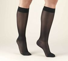 18 Pairs Jet Black Lot Reinforced Toe Knee Highs Stockings Nylon Queen Plus Size