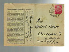 1943 Germany Dachau Concentration Camp Cover Prisoner Konstantin Loewe Orzegow