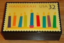 """HANUKKAH """"The Festival of Lights"""" Music box by Stamp Creations USPS"""