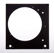 Thorens Deckplatte Platte face plate TD 150 schwarz glänzend eloxiert