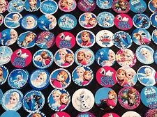 30pc MIXED Frozen High Gloss Precut Bottle Cap Images Hair Bows Crafts Jewelry