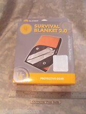 UST: Survival Blanket 2.0 (5'x7') Orange/Silver - HD w/Corner Grommets, 3-Ply