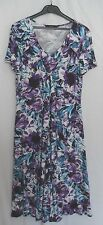 Purple and Jade Floral Dress Size 10