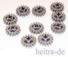 LEGO Technik - 10 x Zahnrad mit 16 Zähnen hellgrau / Zahnräder / 94925 NEUWARE