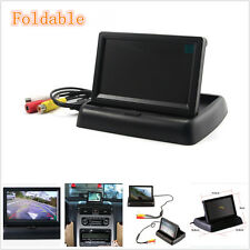 Black Shell DC12V Foldable Autos Reverse Rearview Parking Camera HD LCD Monitor