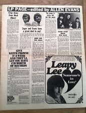 FLAMING YOUTH (Phil Collins,Genesis) Idle Race (ELO) 1969 UK ARTICLE / clipping