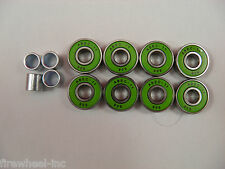 8 x ABEC 11 SCOOTER BEARINGS *NEW* GREEN SHIELDS