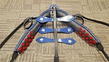 Grand Entry Full Size Horse Blue/Blk Leather Driving Harness -Complete Set