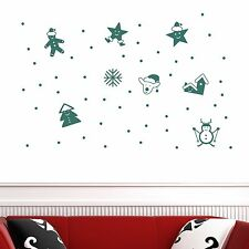 Merry Xmas Tree Star Reindeer Snowflake Wall Stickers Wall Vinyl Decal Decor DIY