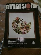 Dimensions Siamese Cat Needlepoint Crewel Kit 1204 Frame  Pillow Almost Finished