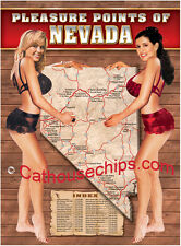 Pleasure Points of NEVADA   LEGAL BROTHEL   WHORE HOUSE POSTER 18X24